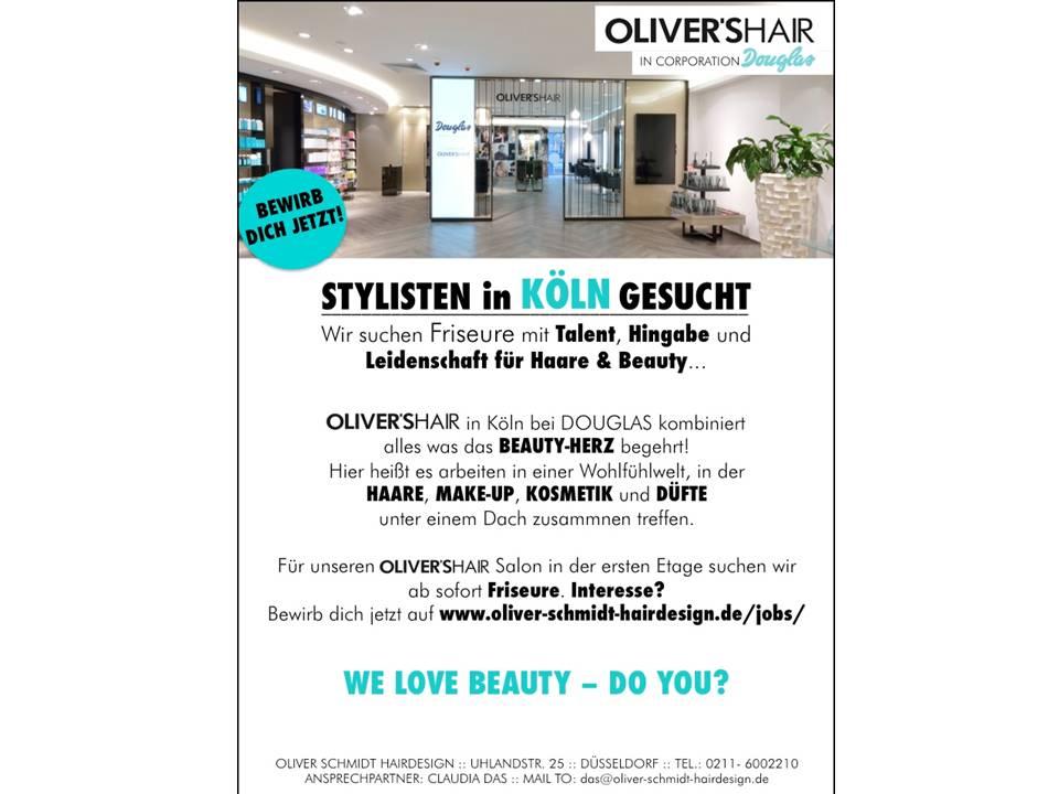 stylisten in k ln gesucht bester friseur in d sseldorf oliver schmidt hairdesign. Black Bedroom Furniture Sets. Home Design Ideas